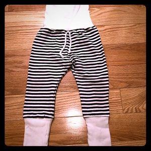 Childhood's Black & White Stripe Skinnies, 18-24